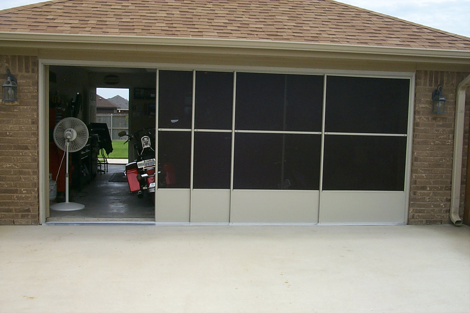 screen before gallery slider aluminum enclosures garage specialized after screens